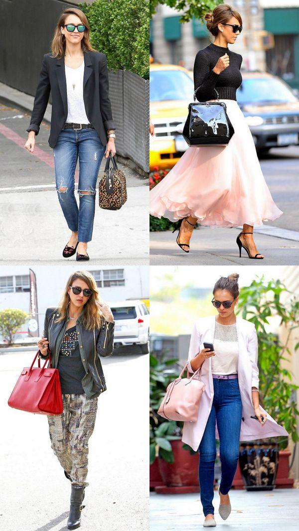 Стиль одежды Джессики Альба