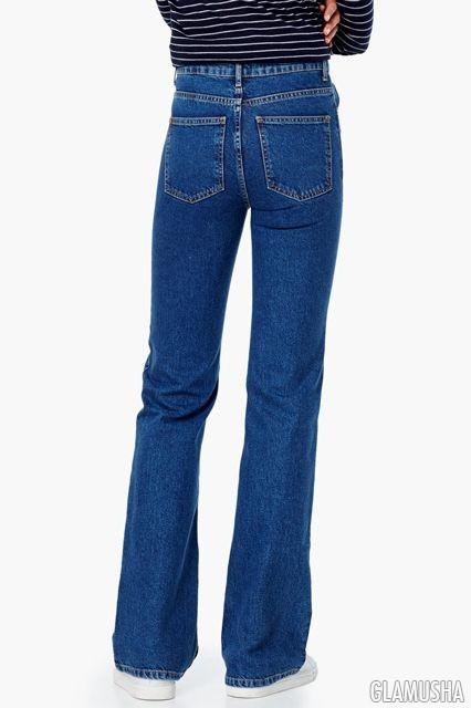 Облегающие джинсы на попах девушек