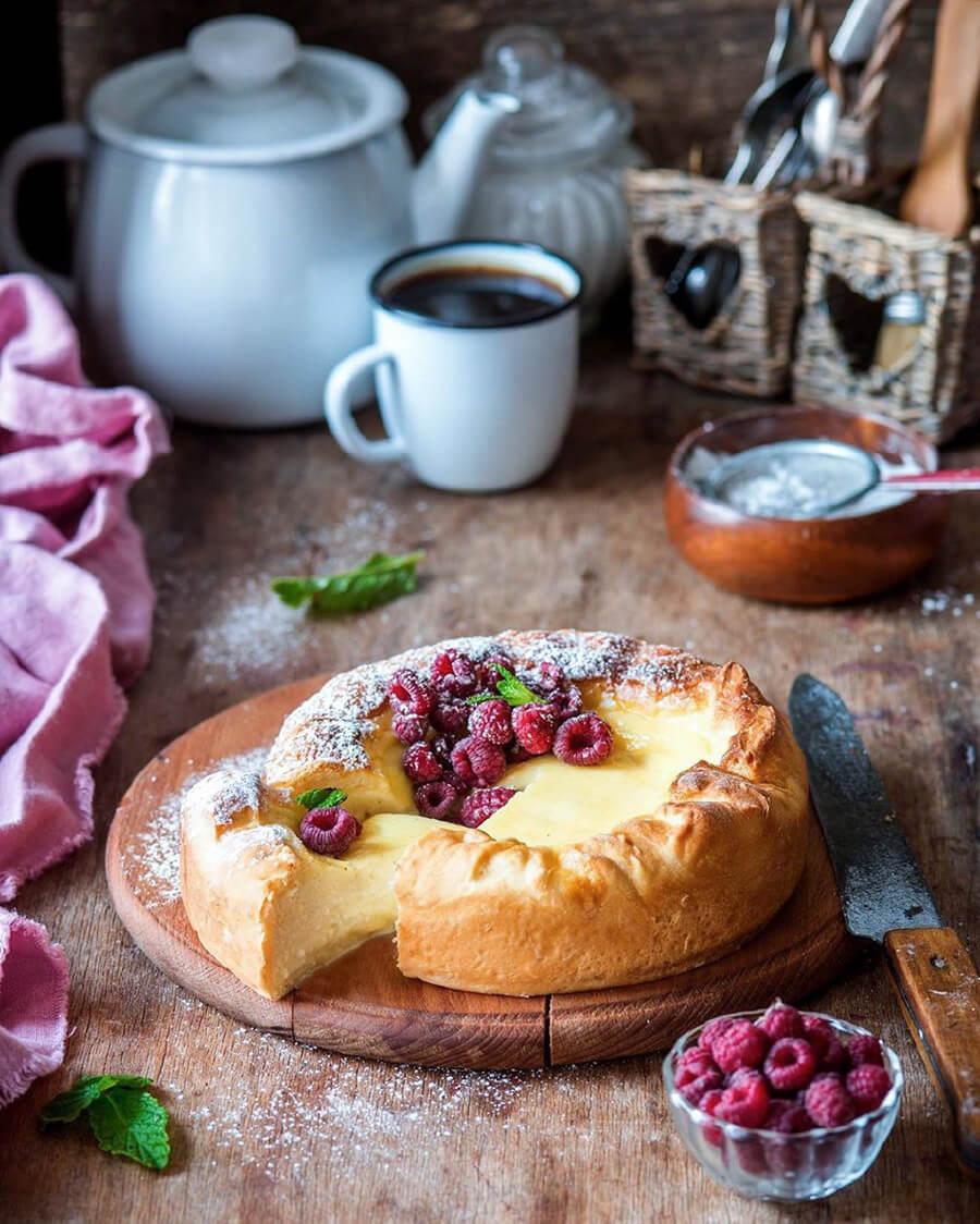 ягодный пп пирог с творогом