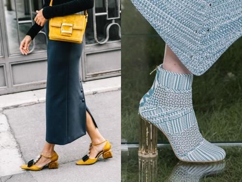 модная обувь весна 2018 толстый каблук