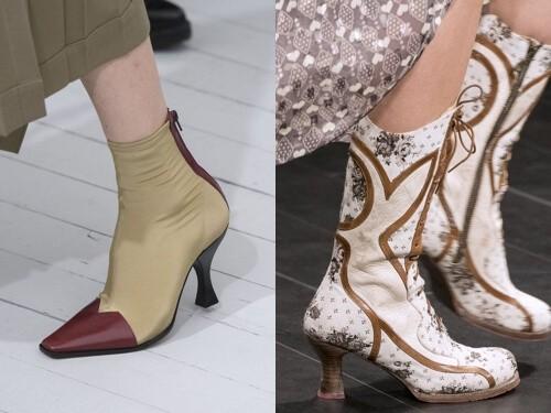 модные тенденции обуви весна лето 2018 каблук рюмка