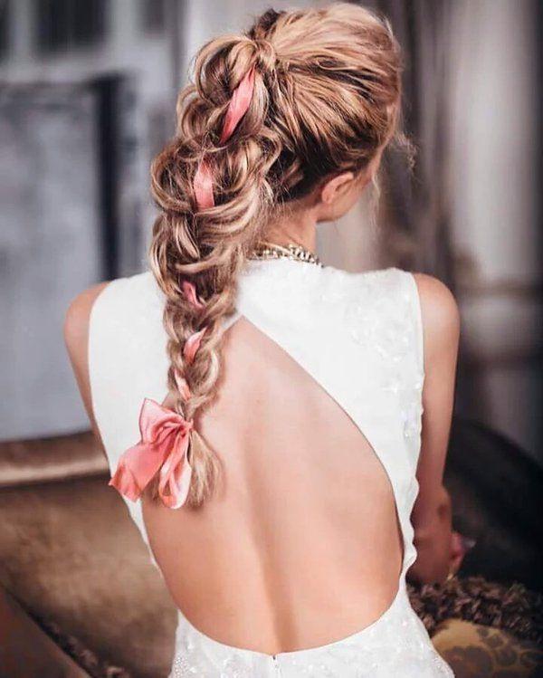 Прически из кос с лентами: идеи, фото- и видеоуроки плетения