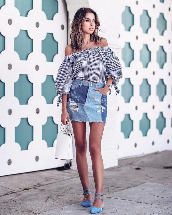 Как подобрать джинсовую юбку по типу фигуры