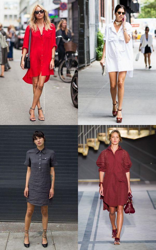 c21dfd566743fec Как и с чем носить платье-рубашку: образы и идеи