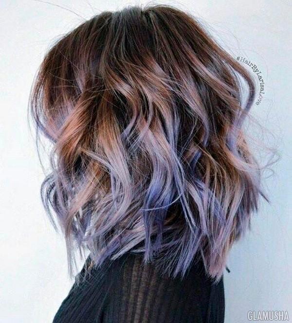Оттеночный шампунь на тёмные волосы