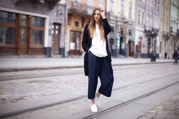Женские брюки-кюлоты: с чем носить