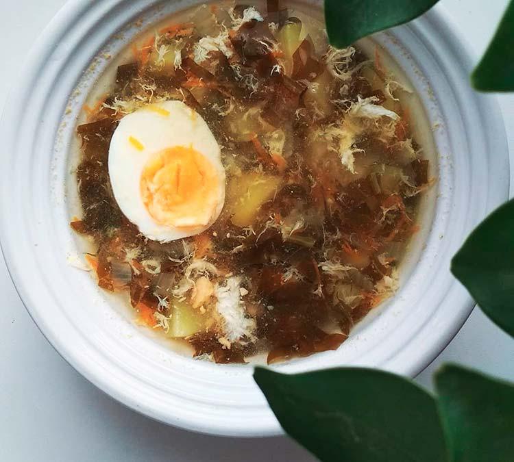 холодный пп суп из щавеля