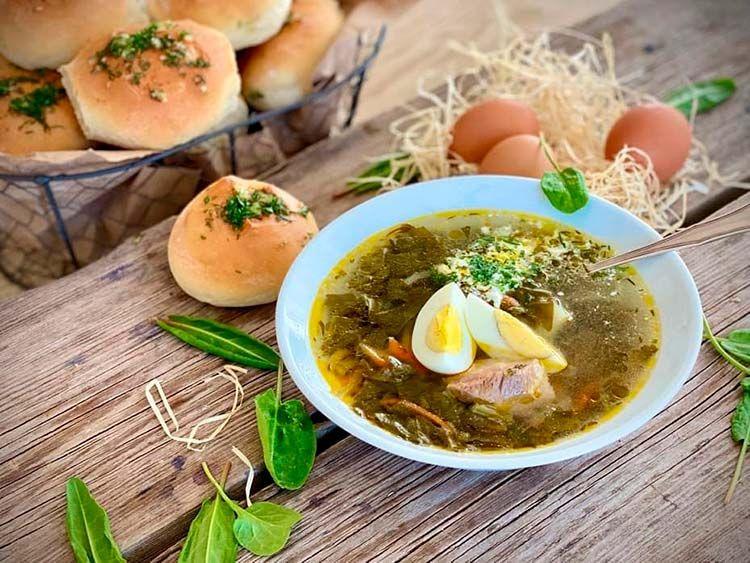 Холодные супы из щавеля