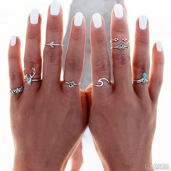 фаланговые кольца фото