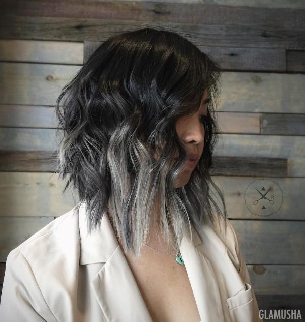 как покрасить черные волосы в пепельный цвет