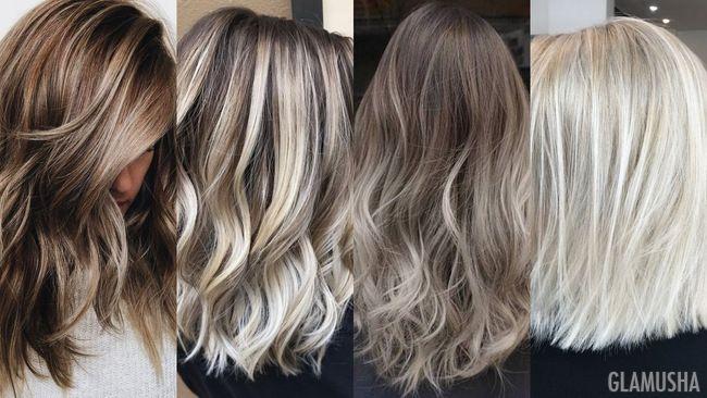 Пепельный оттенок на темно русые волосы