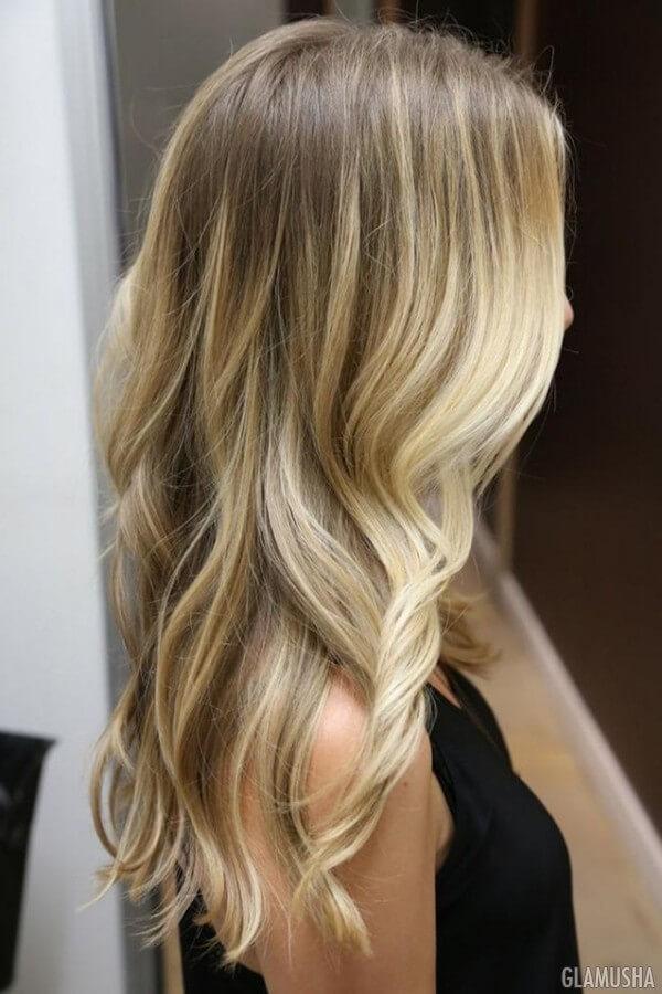 Балаяж темные блондинки