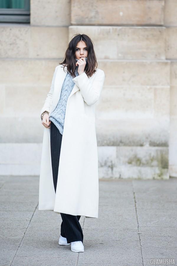 белое пальто фото