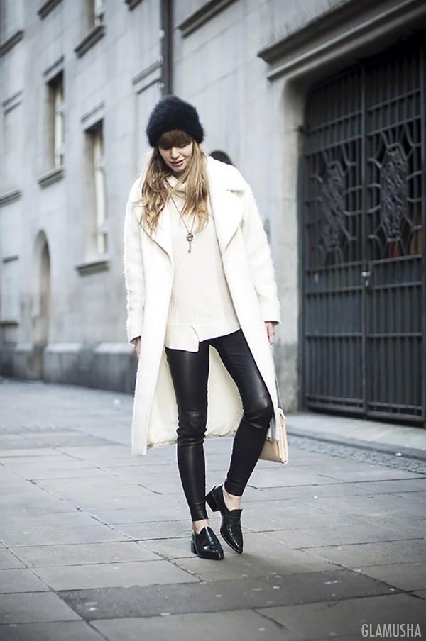 белое пальто схема