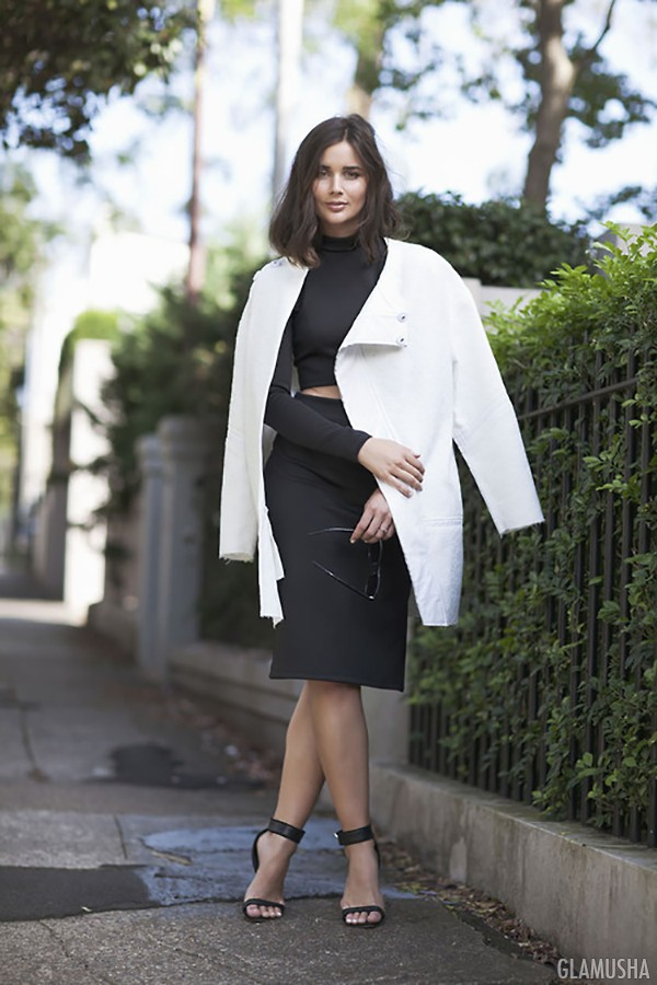 модные женские белые пальто