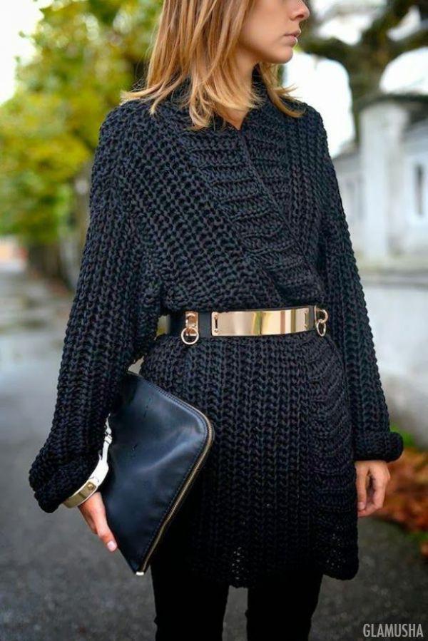 модные тенденции - свитер-платье