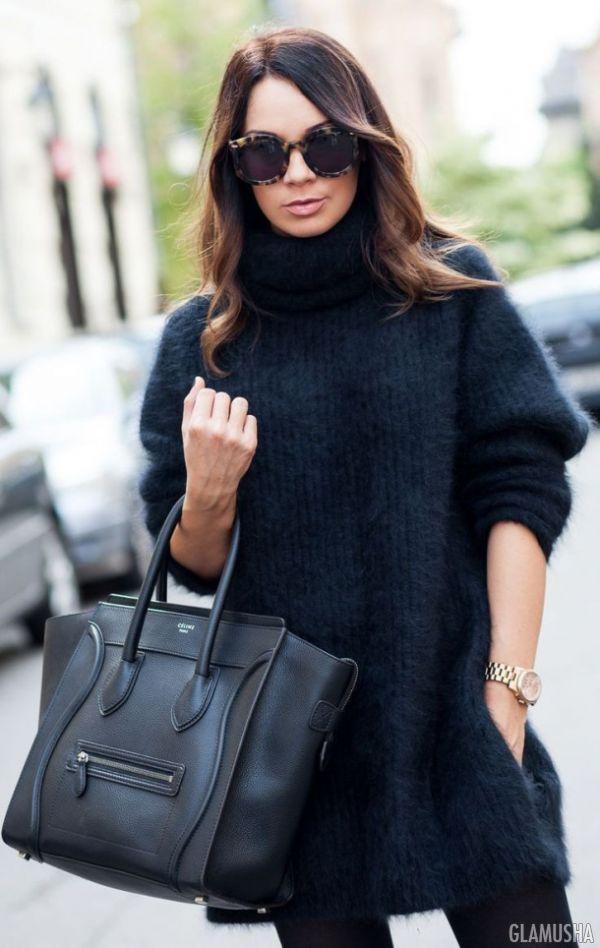 мода 2014-2015: свитер-платье