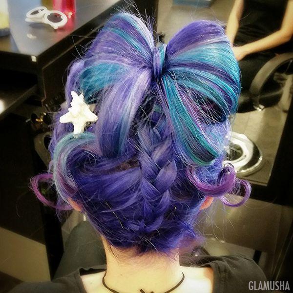 цветные волосы фото