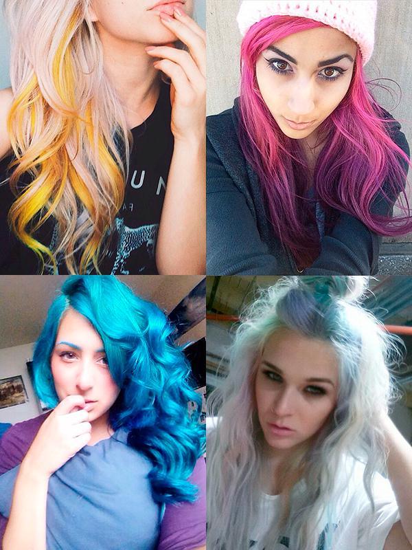 Цветные волосы: 35 модных идей