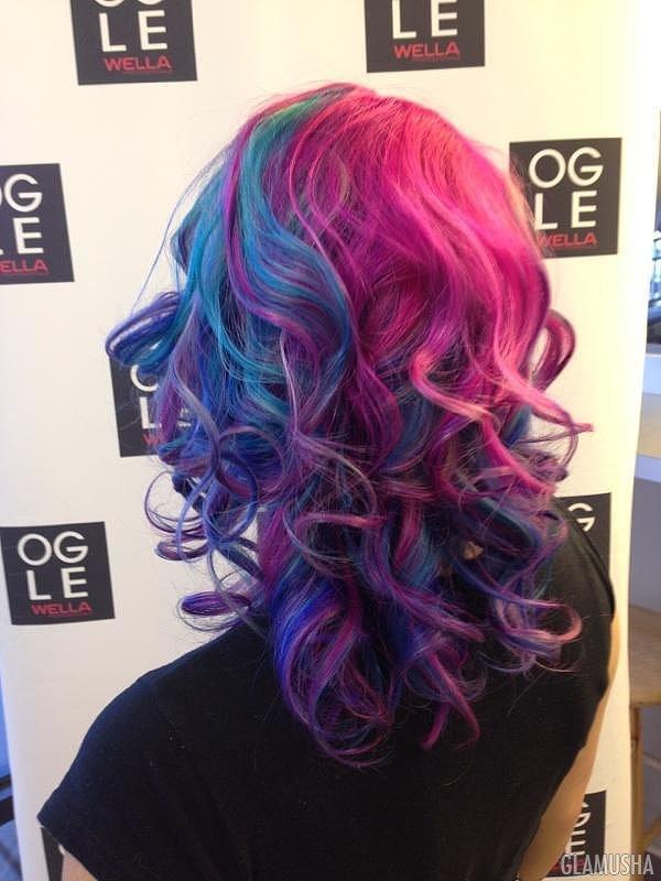 как сделать цветные волосы