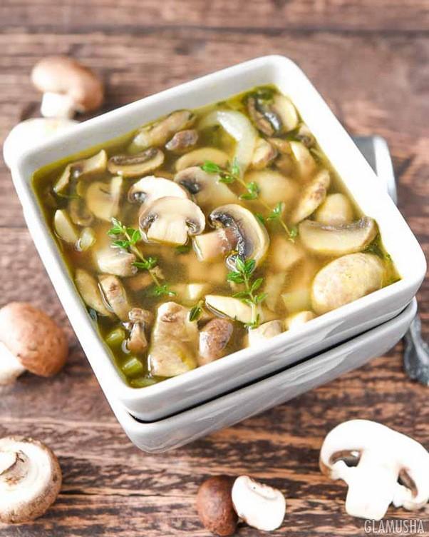 Низкокалорийный грибной суп