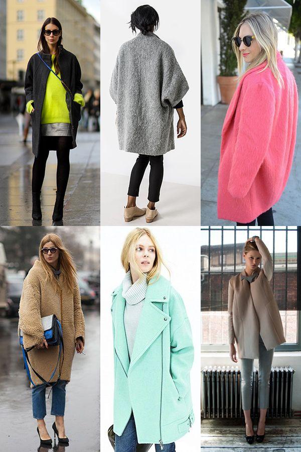 Пальто-кокон: с чем носить (фото)