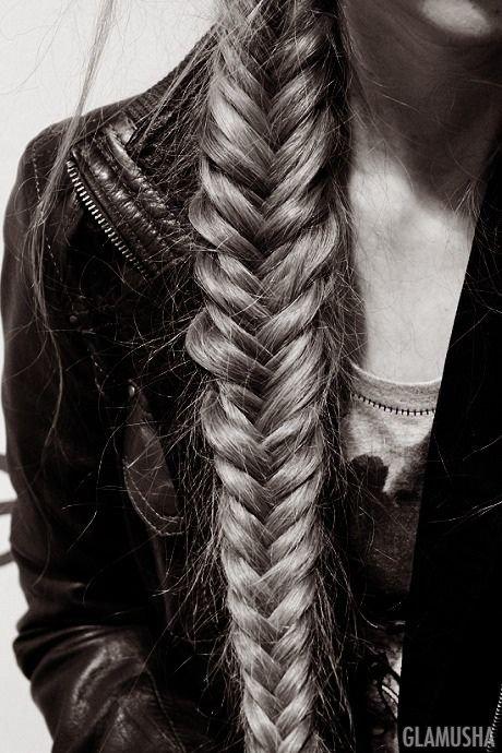 коса рыбий хвост как плести