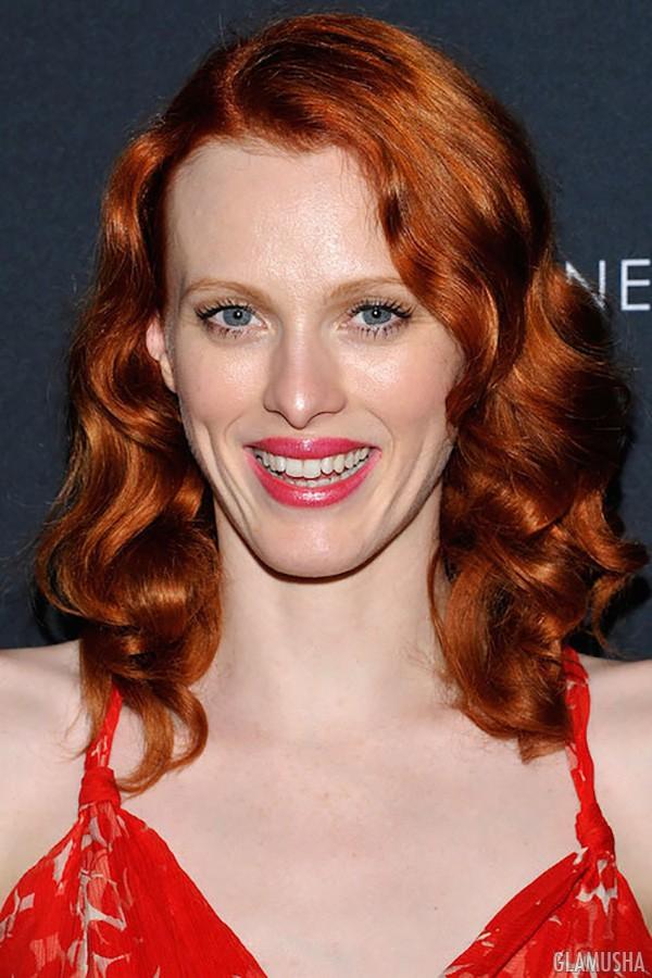 красно рыжий цвет волос