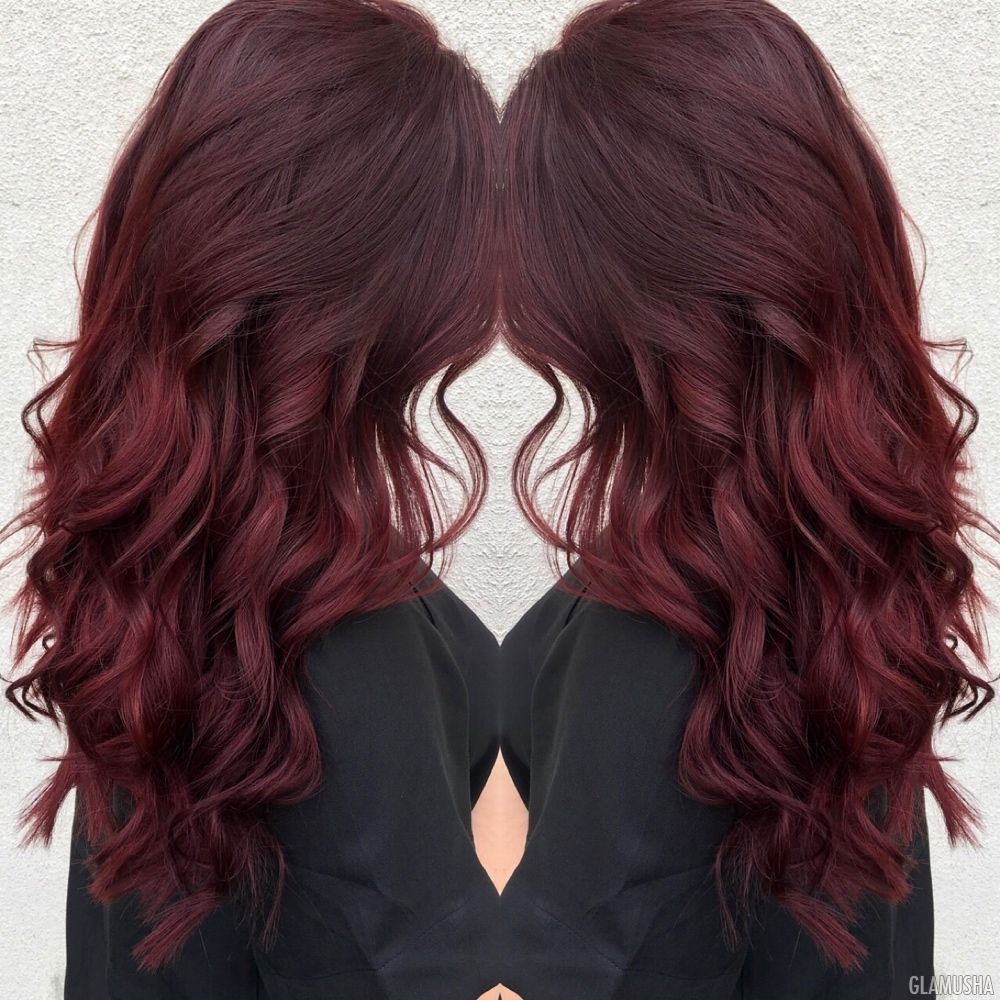 Цвет волос коричневый махагон фото волосы