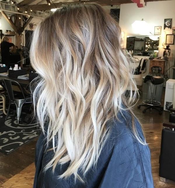 балаяж на светлые волосы Фото