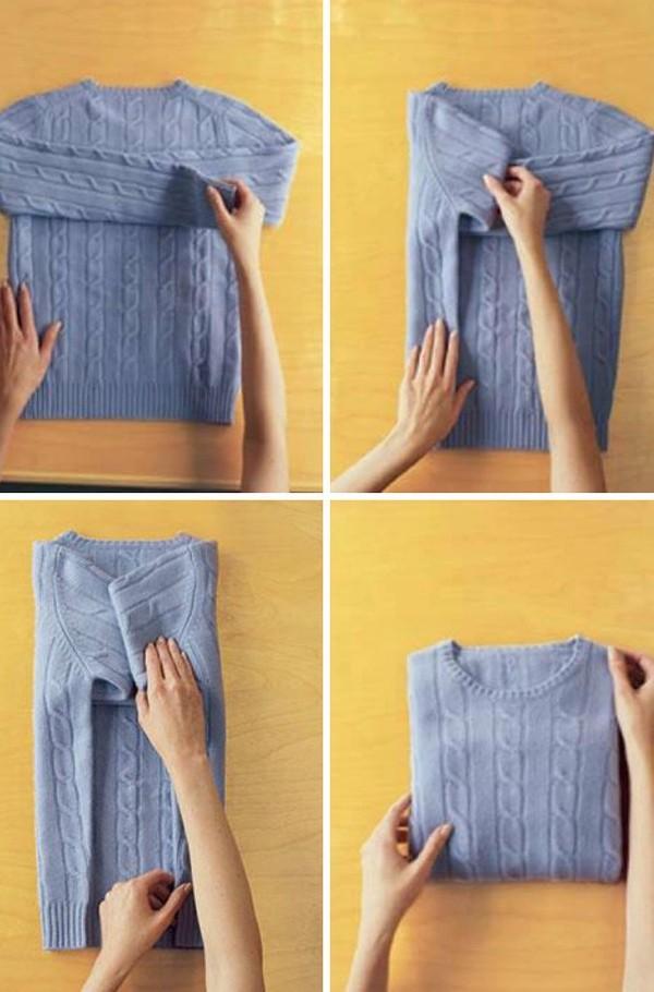 как сложить свитер как в магазине