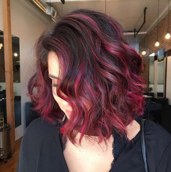 омбре на средние волосы Фото