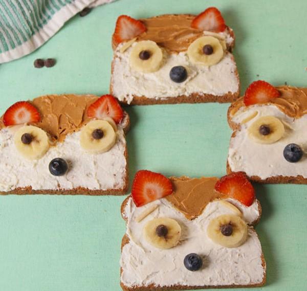 что приготовить ребенку на завтрак: веселые тосты