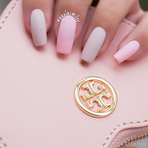 пастельные цвета матовые ногти