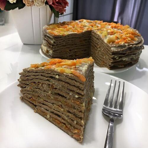 Печеночный торт - пп рецепты