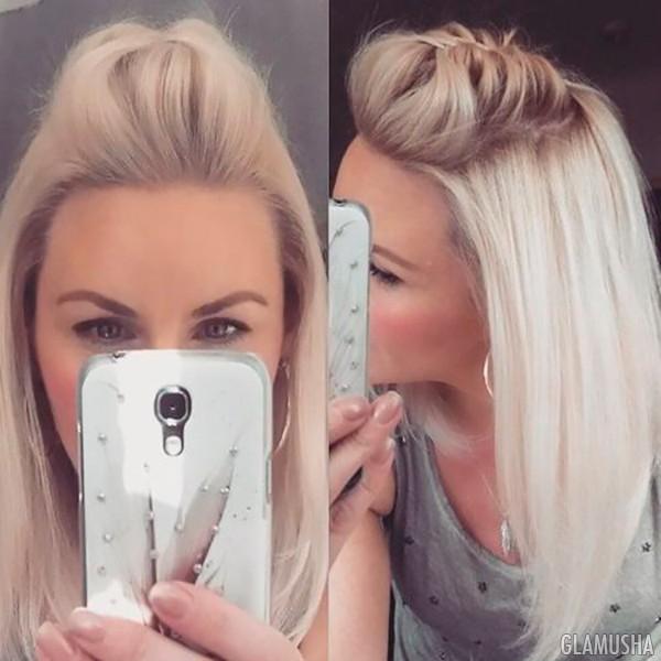 коса из челки фото