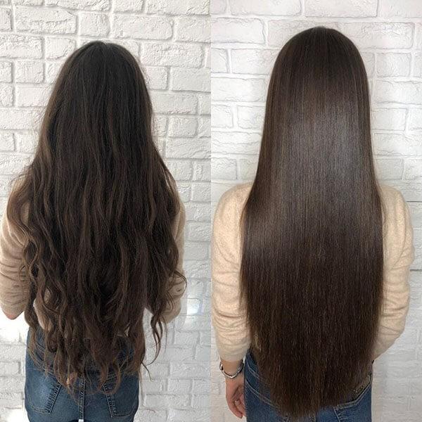 ботокс волос фото до и после