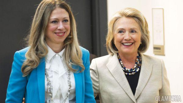 Хилари и Челси Клинтон