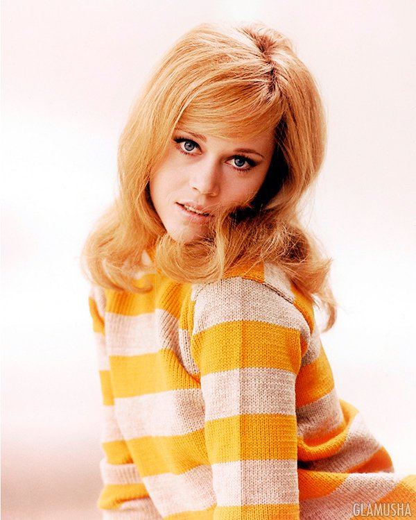 культовые прически из кино Джейн Фонда, Jane Fonda