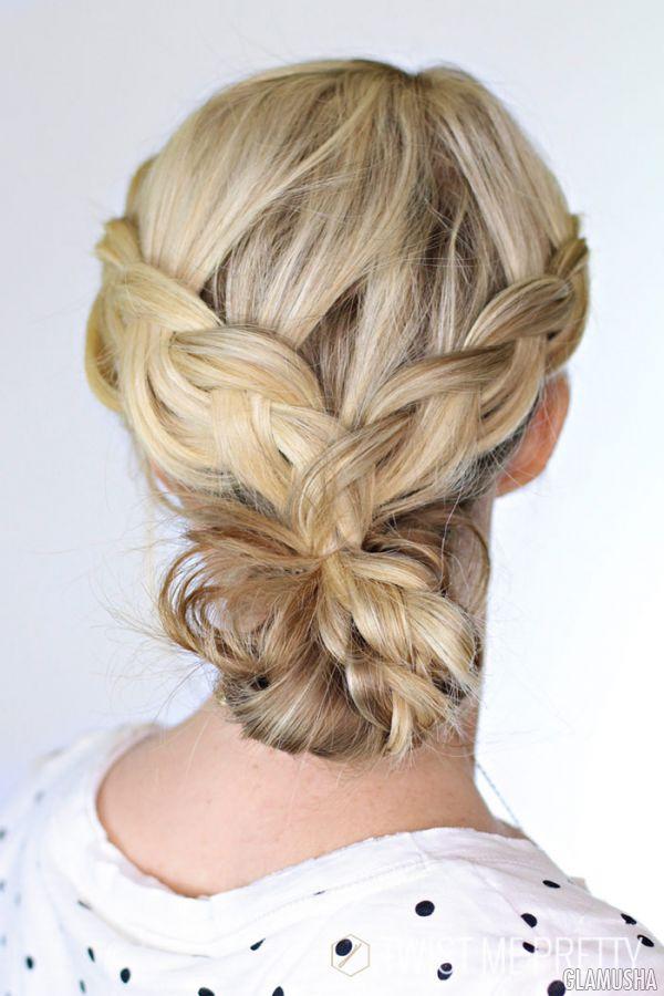 Пучок с косами пошаговая инструкция