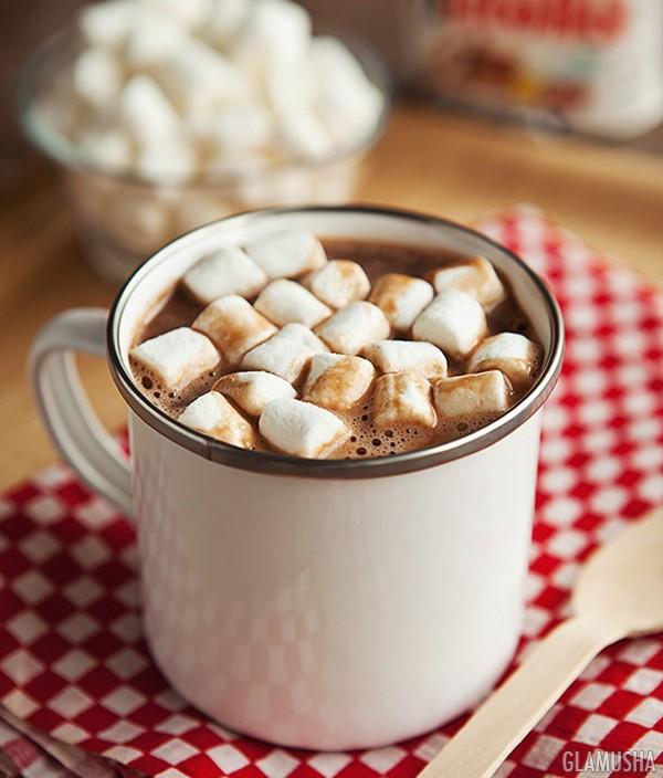 горячий шоколад из нутеллы