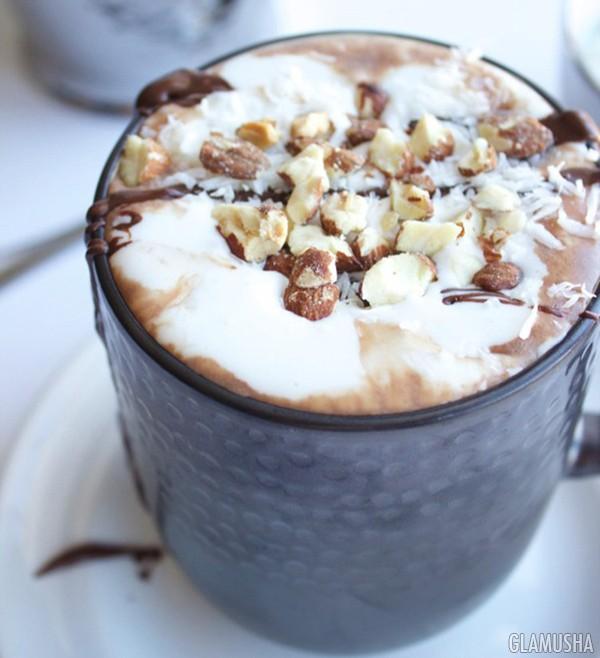 горячий шоколад с орехами рецепт