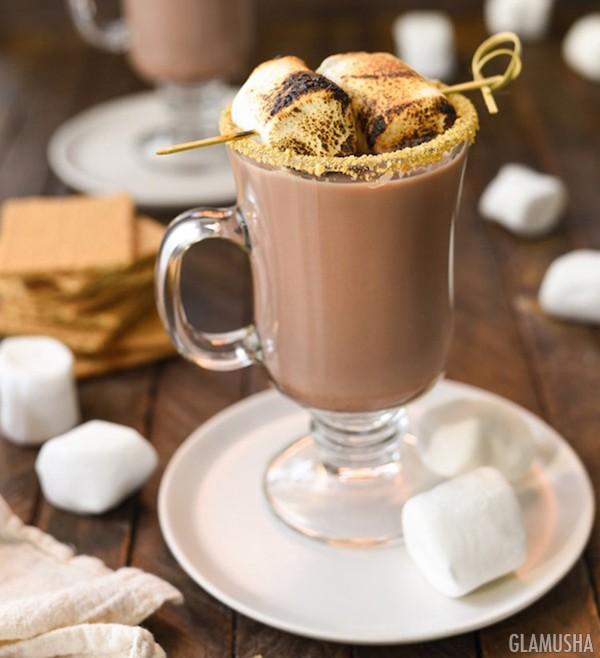 Рецепт горячего шоколада с маршмеллоу