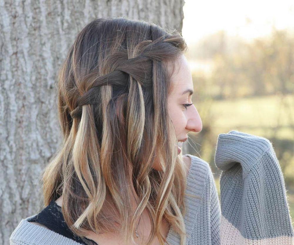 Плетение косы водопад: 5 идей