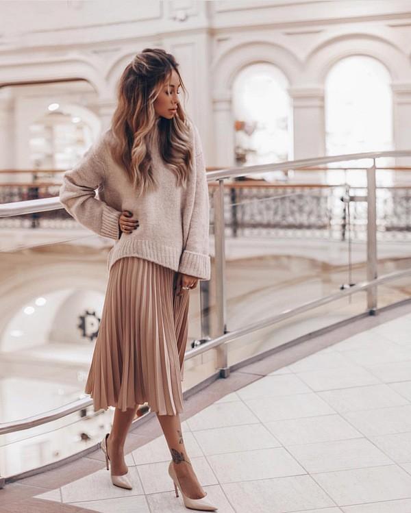с чем носить юбку зимой модные образы