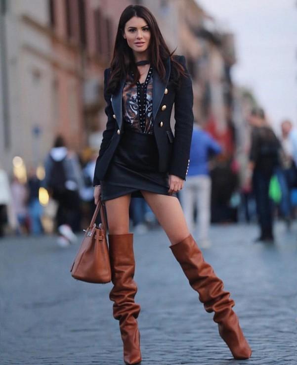 с чем носить мини юбку зимой фото
