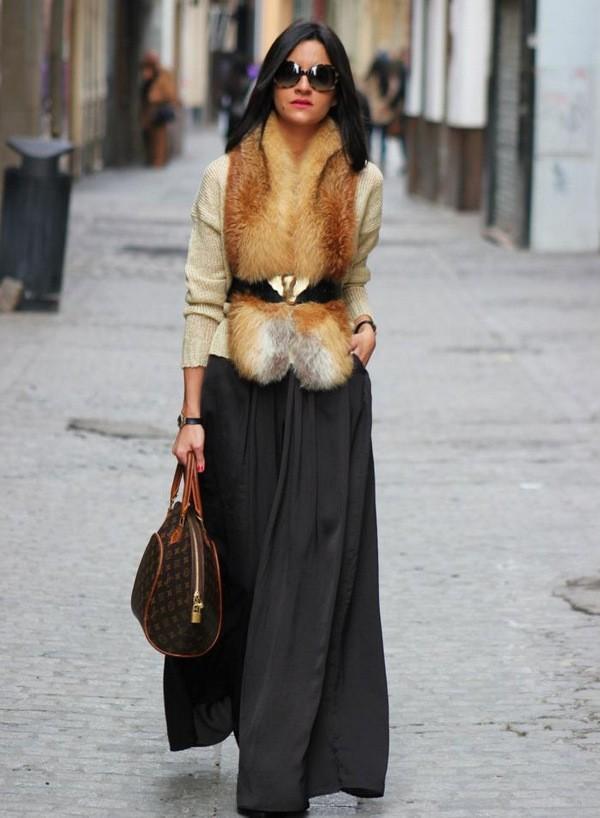 юбка плиссе с чем носить зимой