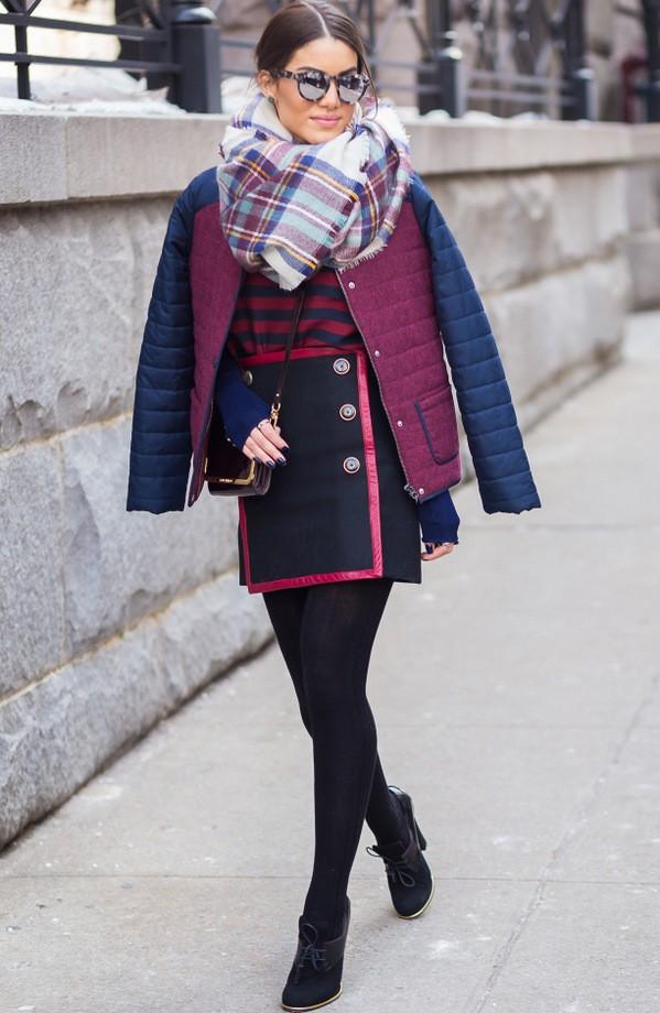 как носить шарф с курткой 2018