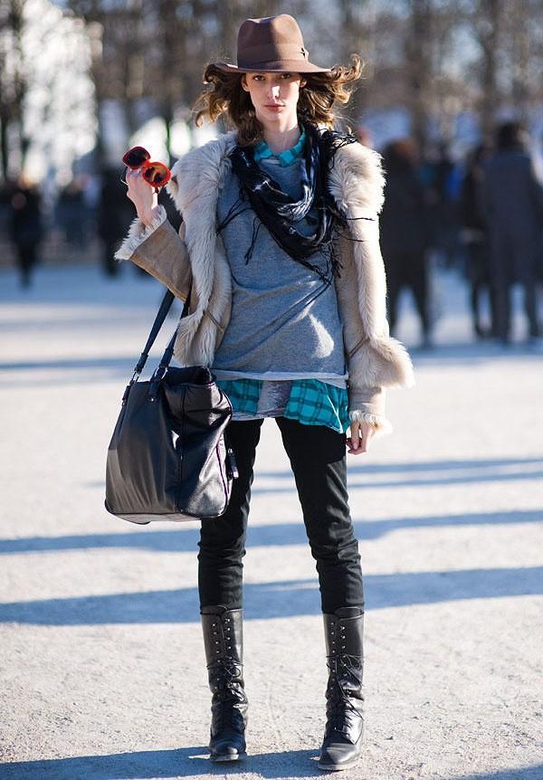 с каким шарфом носить парку - варианты