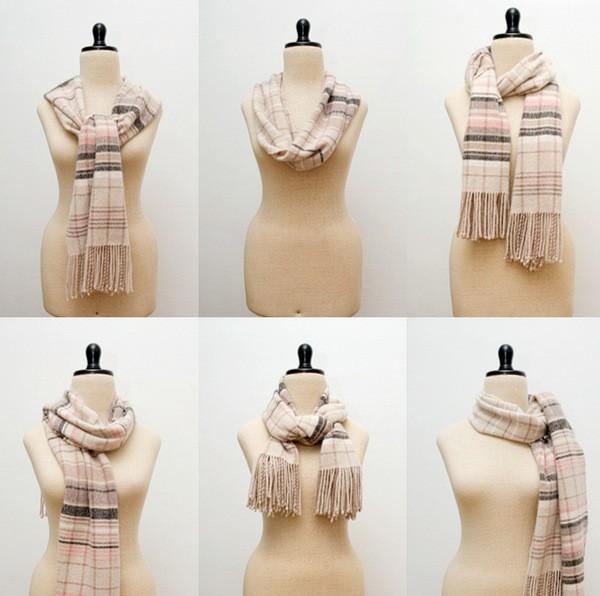 как правильно носить шарф